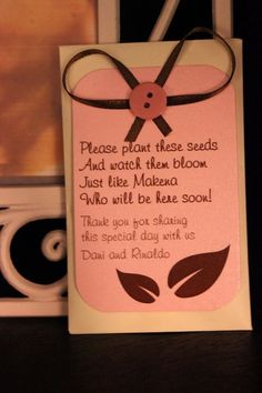 Ok, this is freakin cute!!!! Baby shower favor.. Or baby announcement..