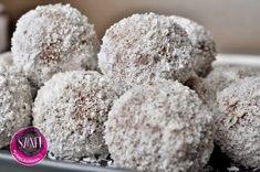 Éhezésmentes karcsúság Szafival - Almás-kókuszos golyó Krispie Treats, Rice Krispies, Paleo, Vegan Christmas, Fitt, Food And Drink, Blog, Beach Wrap, Blogging
