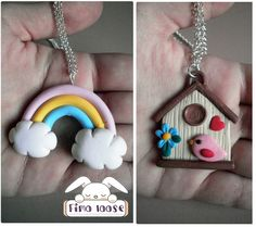 fimo polymer clay collana necklace