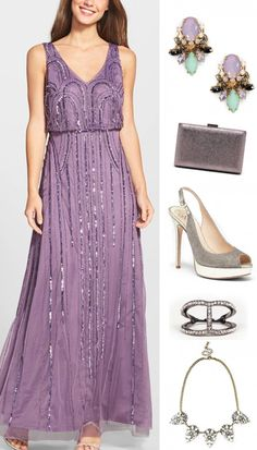 Lovely Lavender and Silver