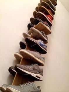 closet storage 25 brilliant diy shoe storage, shoe racks and organizers youll want to make today 03 Closet Shoe Storage, Diy Shoe Rack, Shoe Closet, Shoe Racks, Diy Shoe Organizer, Shoe Shelves, Storage For Shoes, Wooden Shoe Storage, Shoe Tidy