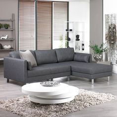 Lille Right Hand Corner Sofa Charcoal Dwell