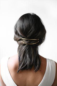 make a hair clip from a cuff!
