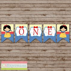 Snow White First Birthday High Chair Banner by CSExpressions