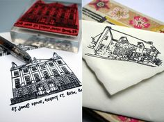 custom house stamp