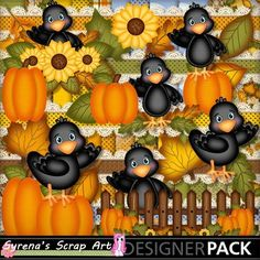 The crows have arrived! Just in time for fall! digital #scrapbooking kit https://www.mymemories.com/store/display_product_page?id=SESA-CP-1408-67188&r=syrenasscrapart