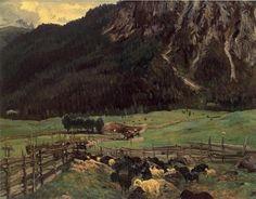 John Singer Sargent. 'Sheepfold in the Tirol'. 1915