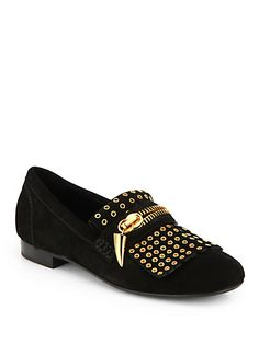 f3661b13173 Giuseppe Zanotti - Gold Chain Studded Loafers