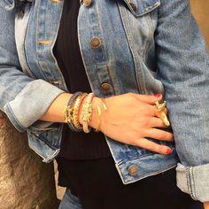 Hinge sharp bone bracelet  buy inline http://ift.tt/2olXJjJ #bracelet #jewellery #fashion #luxury #handmade #goodvibes #instagram #gold