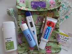 Medium Ouch Pouch First Aid Diaper Bag Organizer by PillowSewCute, $8.95