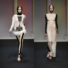 The Romanian fashion designer Ingrid Vlasov, really speaks bold and unique. I'd have to say that black and white are one of my favorite color combinations and her way of portraying this really speaks for itself.