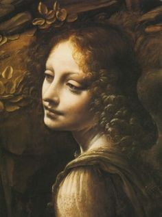 Леонардо да Винчи. «Мадонна в скалах». Фрагмент.