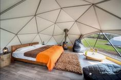 18 Incredible, Amazing, And Unique Airbnb Locations In Scotland Geodesic Glamping Domes, Killin, Loch Tay. Tenda Camping, Camping Glamping, Luxury Camping, Camping Con Glamour, Dome House, Clean Design, Jacuzzi, Lodges, Tiny Cottages