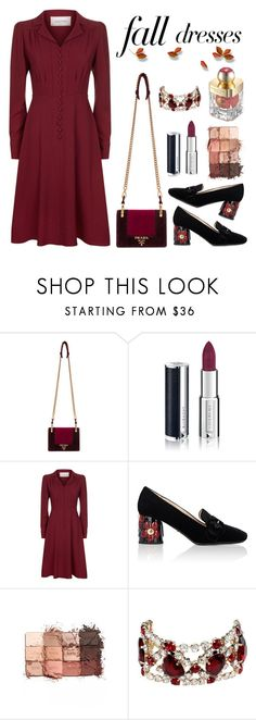 """""""Untitled #887"""" by m-jelic ❤ liked on Polyvore featuring Prada, Givenchy, Valentino, tarte, Dsquared2 and Shanghai Tang"""