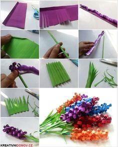 Jednoduché ale krásné květiny z papíru: