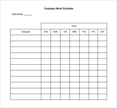 Free Printable Blank Employee Schedules - Blank Weekly Work Schedule Template, Printable Employee Work Schedule Template and .