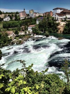 Rhine falls - the largest waterfall along the Rhine river, Switzerland (near German border)