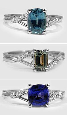 Teal - Olive - Blue Rings
