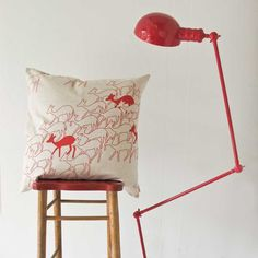 Cushion cover 60x60cm - Duikers, in aloe red. $40.70, via Etsy.