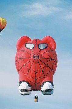 SPIDEY PIG! - Albuquerque International Balloon Fiesta by BillDahl, via Flickr