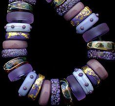 DSG Beads Handmade Organic Lampwork Glass Queen by debbiesanders,mein blattgold Glass Jewelry, Jewelry Art, Beaded Jewelry, Glass Beads, Jewelry Design, Jewellery, Polymer Clay Beads, Lampwork Beads, Handmade Beads