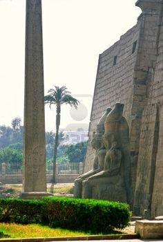 Entrada del templo de Luxor, Egipto
