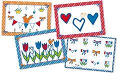 Studio Holland Kaarten-Stickers 4-set #kaarten #postcard #postcrossing #Holland #NL #cards