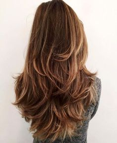 12 Fun and Stylish Long Haircuts for Long Layered Hair 💇 homedecor home holiday diy decor dresses desserts winter fashion women makeup trendy christmas hairstyles hair haare frisuren 💇 Long Shag Haircut, Haircut For Thick Hair, Wavy Hair, Hair Bangs, Messy Haircut, Waves Haircut, Haircut Bob, Dyed Hair, Curls Hair