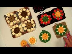 ▶ Variations Granny Squares with Red Heart Yarns - YouTube