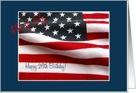 26th 4th of July birthday Card by Greeting Card Universe. $3.00. 5 x 7 inch premium quality folded paper greeting card. Greeting Card Universe offers the largest selection of birthday cards on the web. Whether for one person or the whole family, a paper card will make their birthday memorable this year. Allow Greeting Card Universe to handle all your birthday card needs this year. This paper card includes the following themes: photo, photography, and studio porto sabb...