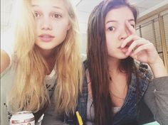 We are here without make-up :) Livi you're look pretty everywhere <3 @oliviahoolt