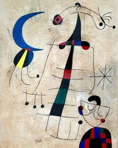 """""""Mais importante do que a obra de arte propriamente dita é o que ela vai gerar. A arte pode morrer; um quadro desaparecer. O que conta é a semente.""""   ― Joan Miró Ferrà  A Lamentação dos amantes (1953) Joan Miró -Galeria Nacional de Arte Moderna - Roma"""