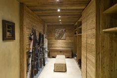 Chalet in Crans Montana, Swiss Alps Bike Storage Room, Casa Top, Drying Room, Swiss Chalet, Swiss Alps, Entry Furniture, Chalet Design, Cabin Chic, Rustic Home Interiors