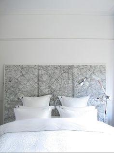 #Elegante combinación de gris y blanco para el #dormitorio.
