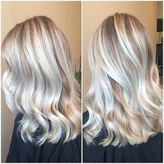 "195 Likes, 32 Comments - Morgan (@merrgg) on Instagram: ""Bright icy blonde ribbons with her natural base Gorgeous head of hair!! So nice meeting you…"""