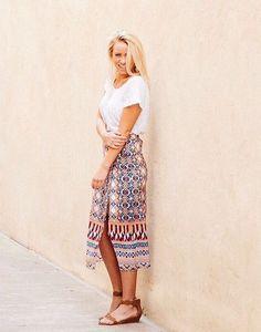 Wrapped Silk Skirt #Anthropologie #MyAnthroPhoto