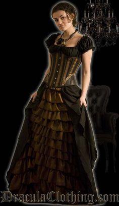 """steampunk"" style dress"