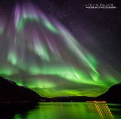 Auroral cascade taken by Colin Palmer on October 18 2014 near Tromsø Norway. Photo Elements, Tromso, Light Of The World, Natural Phenomena, Milky Way, Beautiful World, Beautiful Scenery, Natural Wonders, Ciel