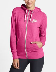 This cozy-cute hot pink Nike hoodie totally has the look of an old-school gym favorite, and is so comfy during and post-work-out.