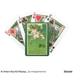 St. Patty's Day Girl Playing Cards