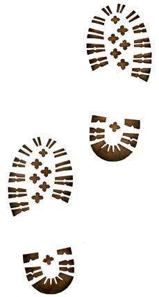 Hiking Boot Prints Stencil
