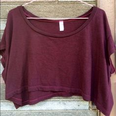 American Apparel Crop Top Maroon Crop top tee American Apparel Tops Tees - Short Sleeve