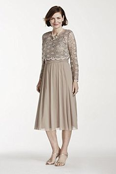 Tea Length Mesh Mother of Bride/Groom Dress with 3/4 Lace Popover Style 5663,... David's Bridal http://smile.amazon.com/dp/B00UOZ7OIC/ref=cm_sw_r_pi_dp_4.abwb070D8XF