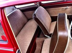 badass tweed interior on red bug