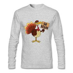 bbb424d8 New Arrival Men t-shirt Go Vegan Comfortable Long Sleeve Crew Neck Tee  shirts Organic Cotton T-shirts For Mens