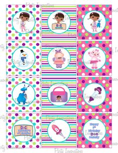 Printable Doc McStuffins Cupcake Toppers on Etsy, $5.00