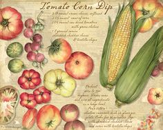 Fresh From The Farm Recipe Card Album. What better way to keep cherished recipes organized, both old and new, than with a Lang vintage looking recipe album. Corn Dip, American Kitchen, Recipe Organization, Tortilla Chips, Food Illustrations, Recipe Cards, Fruits And Vegetables, Veggies, The Fresh