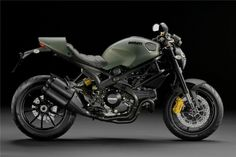 I want a Ducati Monster 1100 EVO. The yellow accents are cool on this one. Not sure about the military green.