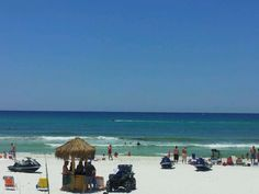 Panama City Beach, Florida - visited in 2008 - beautiful white sand beach and clear blue waters!
