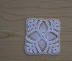 """""""All of our photographed models were made with Size 10 crochet cotton, but you can of course make them in any thread or yarn you choose, so no gauge is given."""" - Introduction, 50 Fabulous Pineapple Crochet Motifs"""